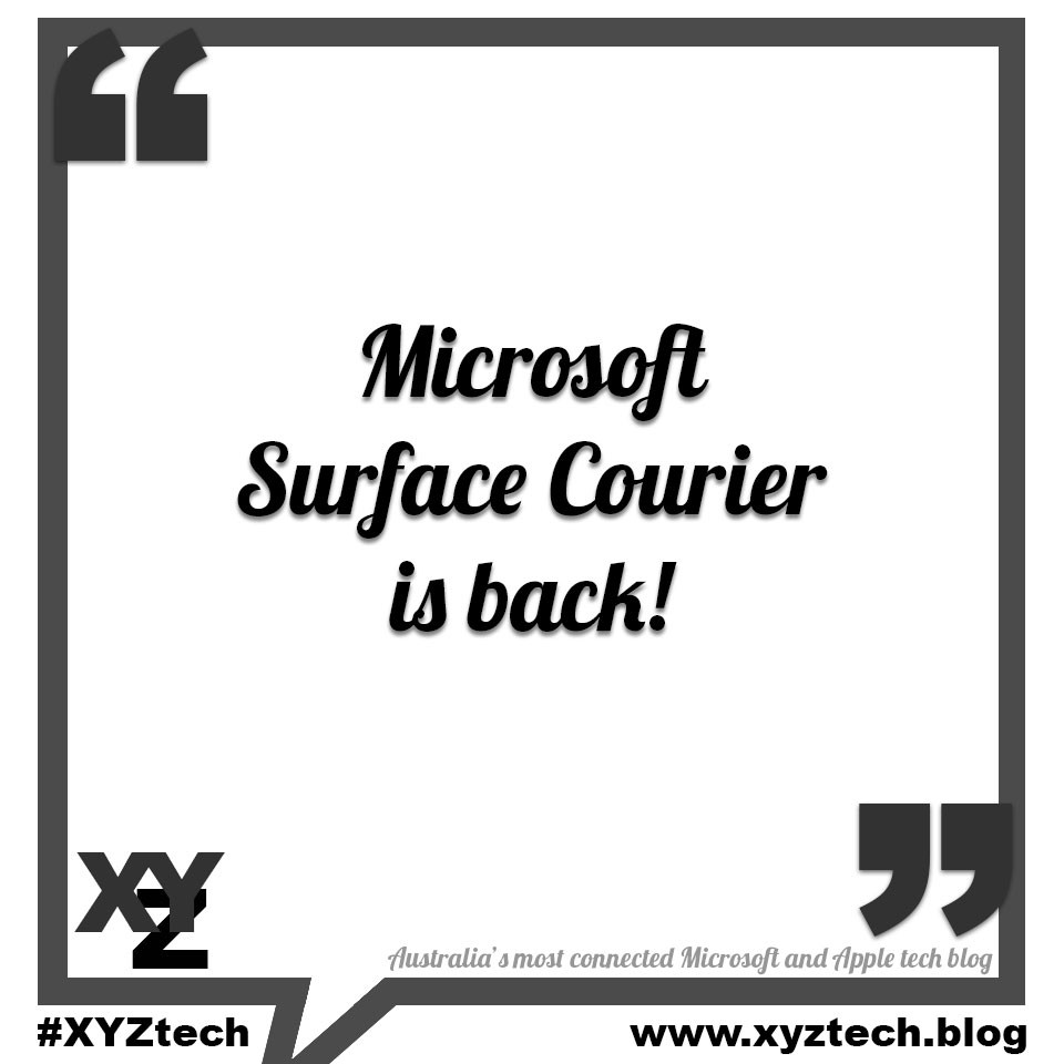 Microsoft Courier is back!