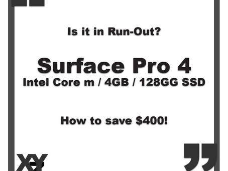 Run Out: Surface Pro 4 with Core m