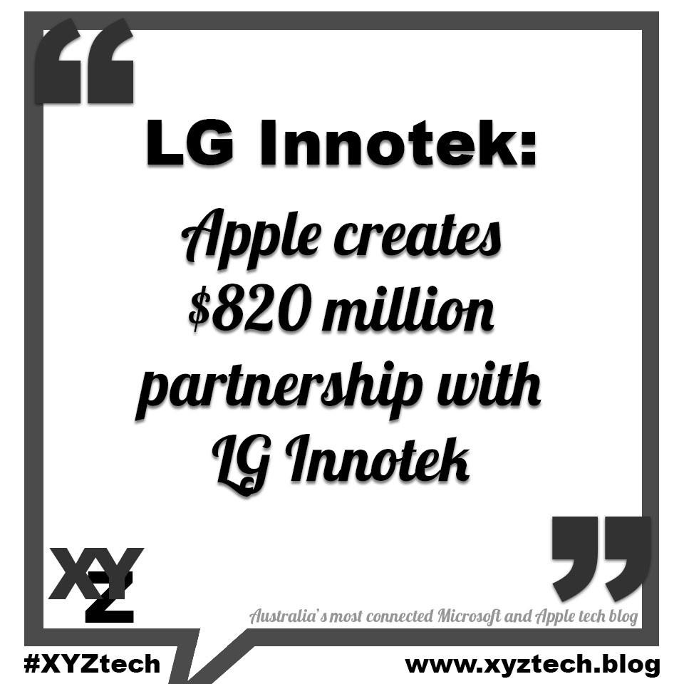 Apple creates $820 million partnership with LG Innotek