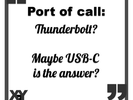 Maybe USB-C is the answer?