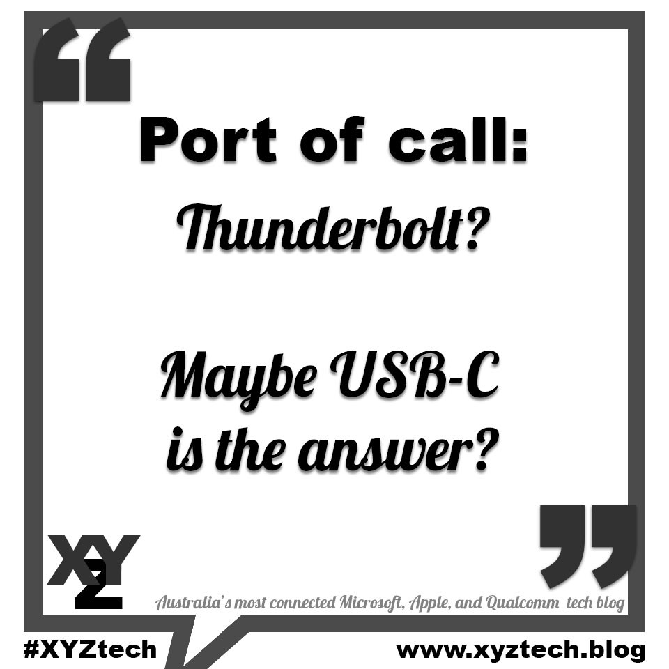 Port of Call: Maybe USB-C is the answer