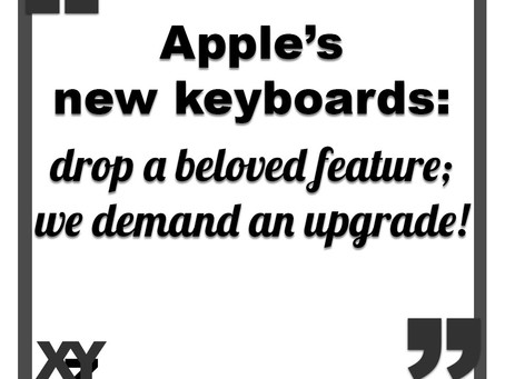 Apple's new keyboards drop a beloved feature