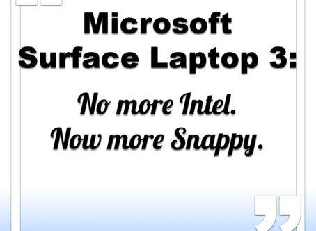 Microsoft Surface Laptop 3 to go Snapdragon