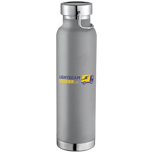Lightbeam Courier Premium 22 oz. insulated travel bottle - gray