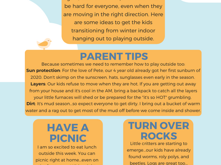 Transitioning to Outdoor Play