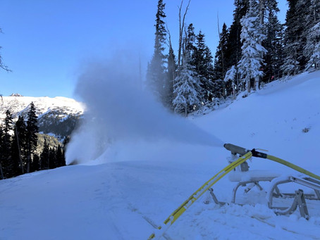 Making snow in the mountains