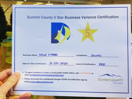 5 Star Certification at Wild and Free