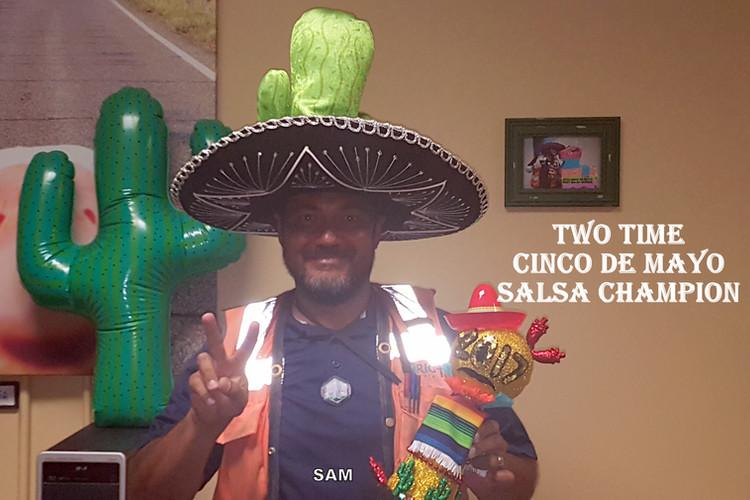 Sam the Salsa Champion