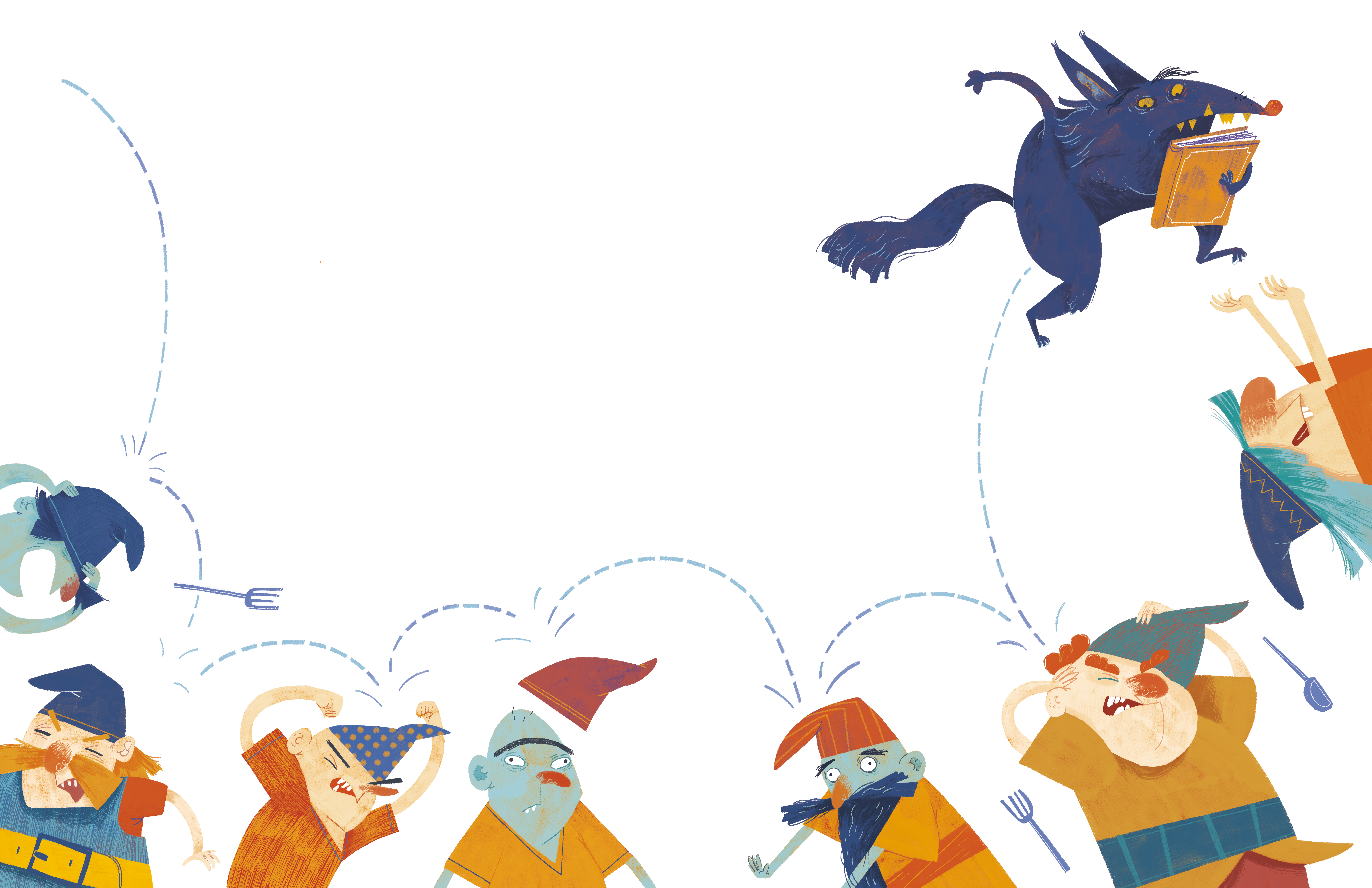 The wolf and the seven dwarfs