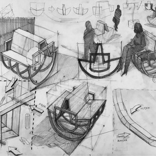 Teczka na Wydział Architektura Wnętrz 2020 - Zuzia Baran