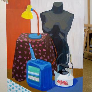Zajęcia plastyczne, kurs przygotowujący ASP w Autonomii, prace kusantów