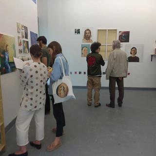 19.05.2018 - Klasa plastyczna z XXXIV LO im. Miguela de Cervantesa ''Tożsamość'' Noc Muzeów 2018.