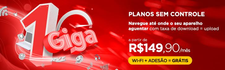 1 GIGA de velocidade é só na RVT  |  Internet 100% fibra em Florianópolis