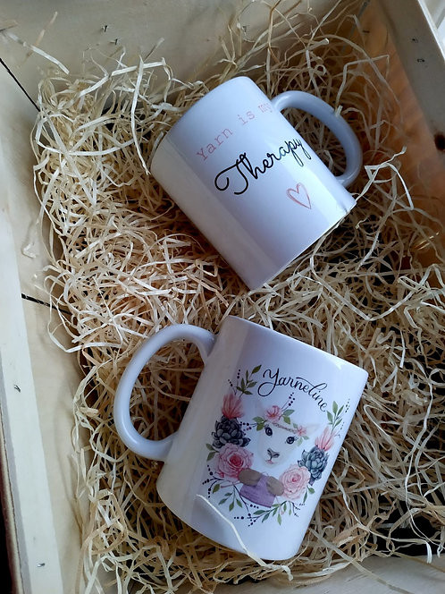 """Tasse """"Yarn is my therapy"""""""