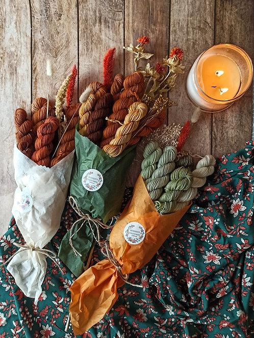 Bouquets d'Automne - Laine et fleurs séchées