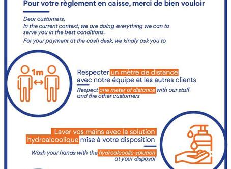 Information Client Paiement Caisse : les bons gestes au Restaurant