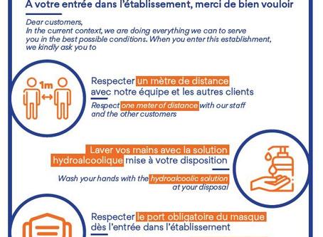 Information Client Accueil : les bons gestes au Restaurant