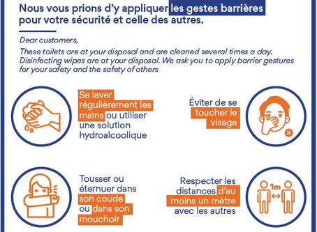Information Client Sanitaires : les bons gestes au Restaurant