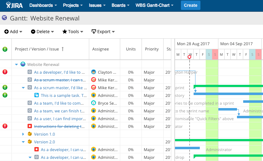 Wbs Gantt Chart For Jira 9 2 Now Released Improved Ui Makes It Easier First Time Users