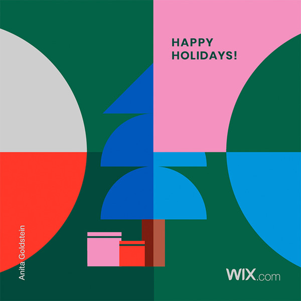 Wix.com Holiday Card Designed by Anita Goldstein