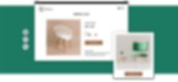 Online furniture store product page with chair images.