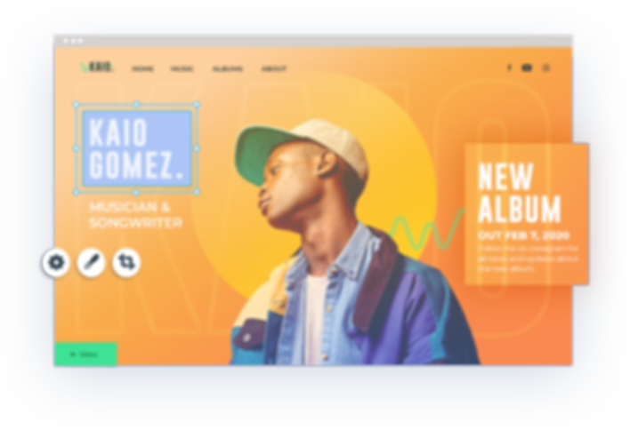 Musician webpage
