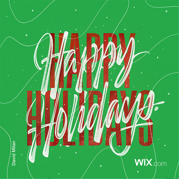 Wix.com Holiday Card Designed by David Milan