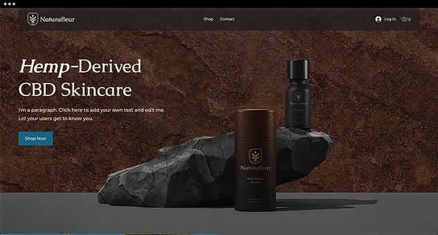 CBD template for CBD skincare brand.