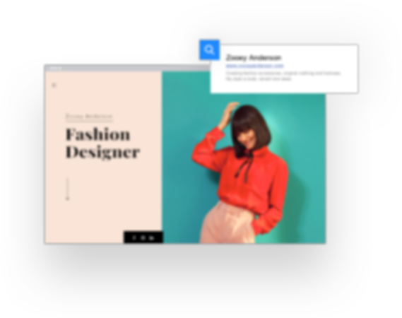 Fashion designer site and URL