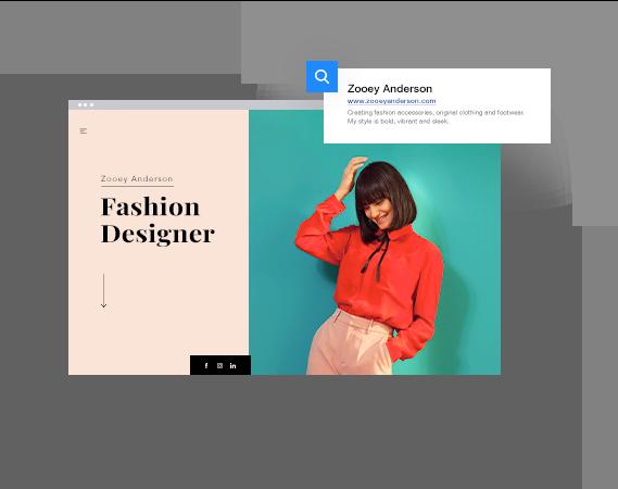 Fashion designer site and URL
