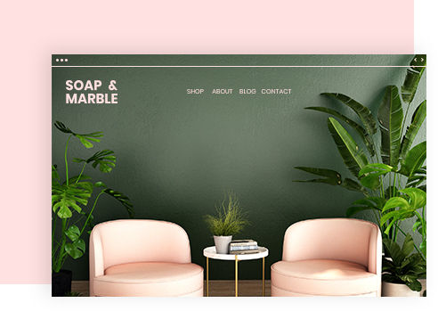 Soap & Marble business website example with professional design.