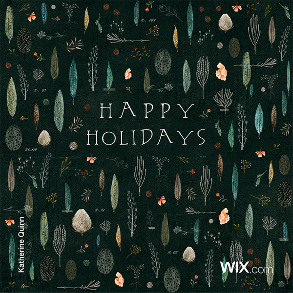 Wix.com Holiday Card Designed by Katherine Quinn
