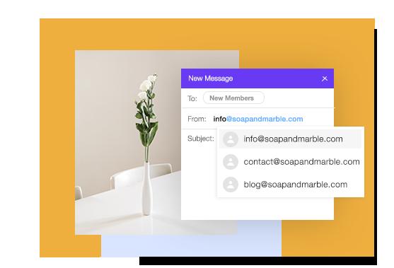 블로그 맞춤형 이메일 주소의 예시들