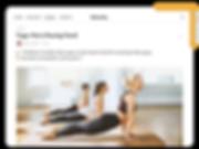 Helenika fitness blog with a yoga blog post.