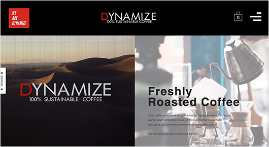 Dynamize Freshly roasted coffee subscription box website