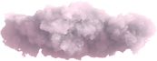 Nuvole fluttuanti rosa e grigie