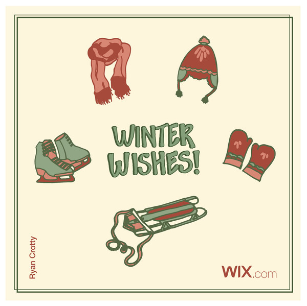 Wix.com Holiday Card Designed by Ryan Crotty