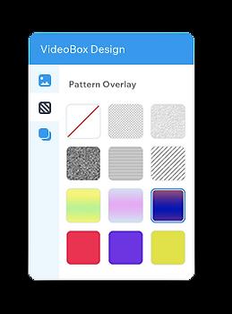 Instellingen voor videomasker patroon overlay