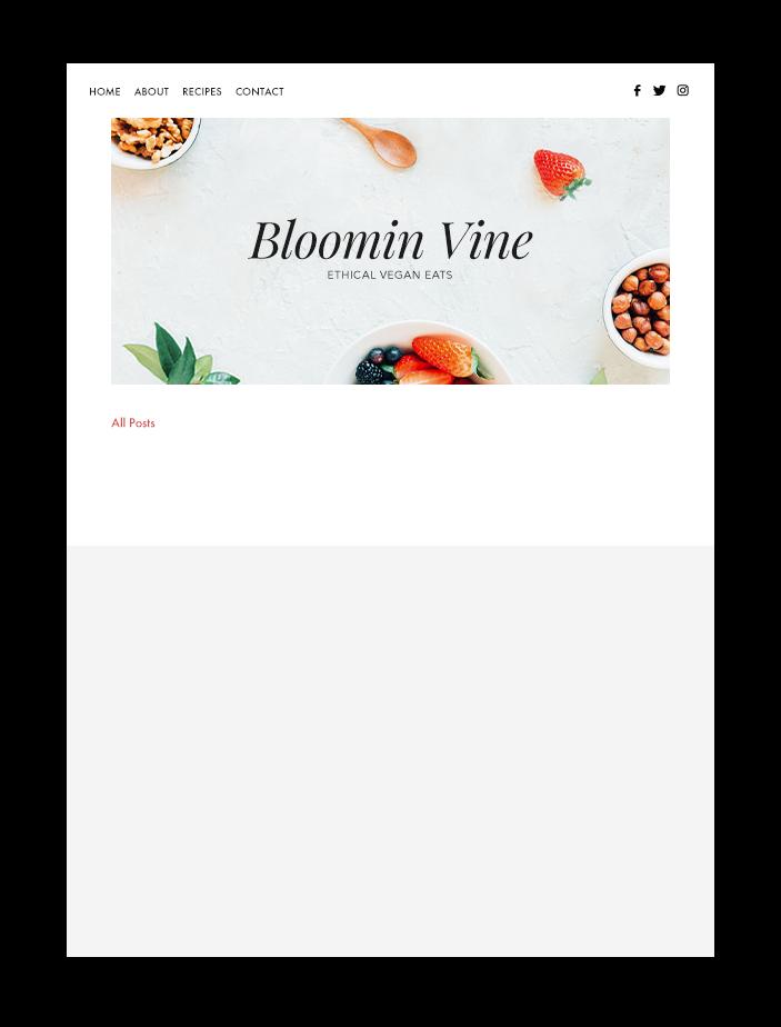 블로그 피드 및 게시물에 보여지는 Bloomin Vine 음식 블로그