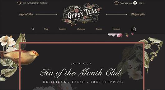 Gypsy Teas Tea of the Month Club subscription box website