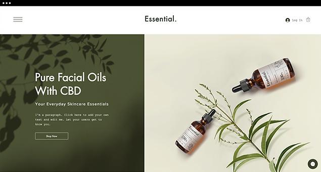 CBD template for CBD facial oils online store.
