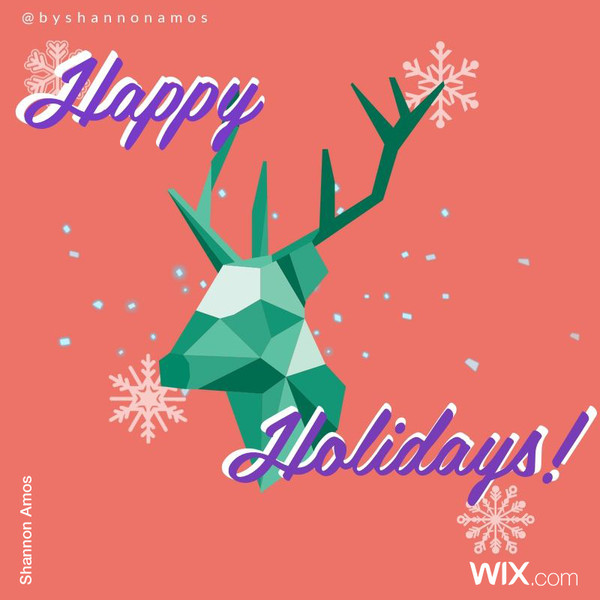 Wix.com Holiday Card Designed by Shannon Amos