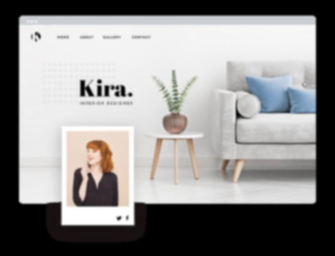 Interior design webpage