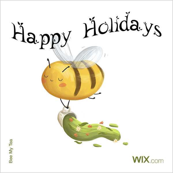 Wix.com Holiday Card Designed by Bee My Tea