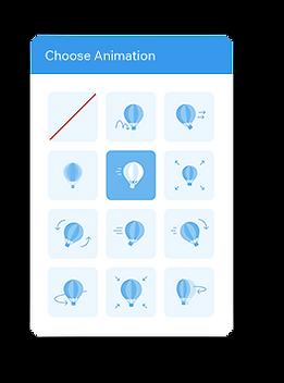 Videomasker animatie-instellingen