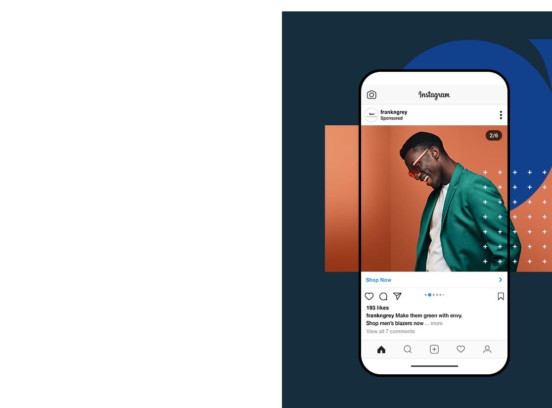 Anúncio do Instagram com Wix