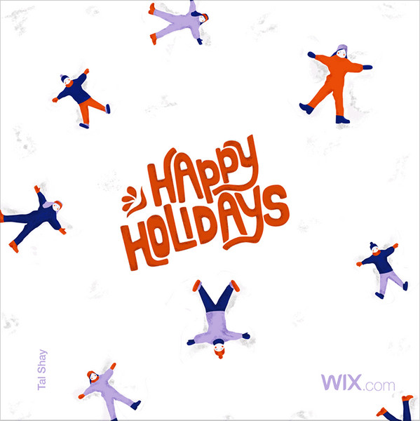 Wix.com Holiday Card Designed by Tal Shay