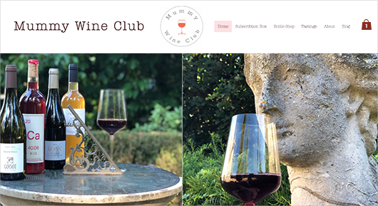 Mummy Wine Club subscription box website