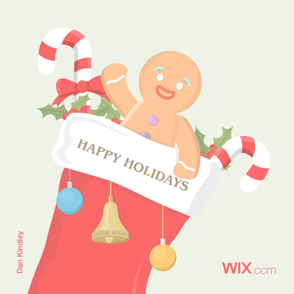Wix.com Holiday Card Designed by Dan Kindley