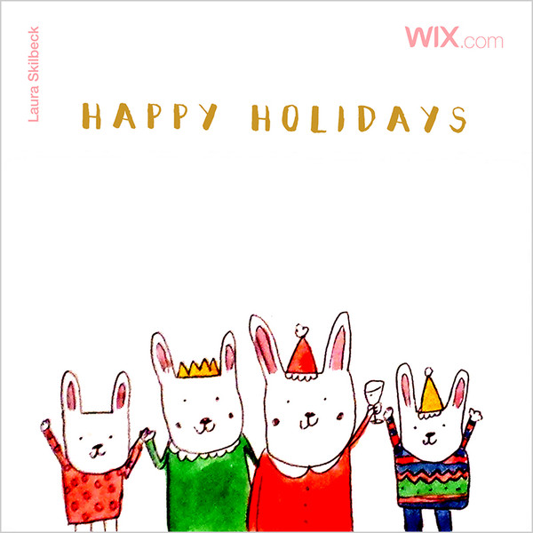 Wix.com Holiday Card Designed by Laura Skilbeck